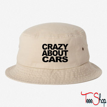 Crazy about motor cars t-shirt bucket hat