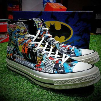CREYNW6 DC Comics x Converse Chuck Taylor 1970s Batman Shoes