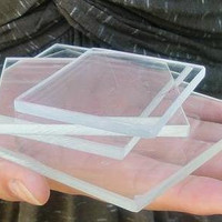 "3""x 4"" Clear Acrylic Rubber Stamp Blocks, Hand Cut To Size, Perfect backing for my Hand Carved Rubber Stamps"