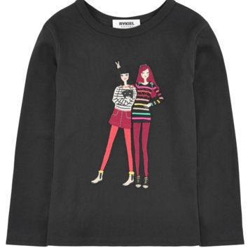 Sonia Rykiel Girls 'Friends' Long-Sleeved T-shirt
