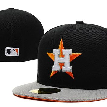 Houston Astros New Era 59FIFTY MLB Baseball Cap Black