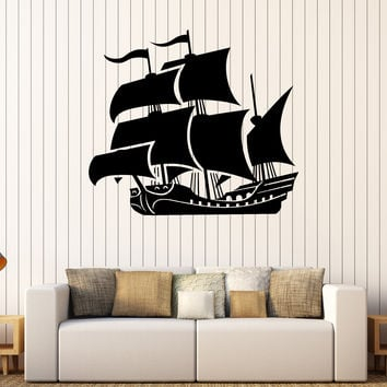 Vinyl Wall Decal Ship Boat Child Room Marine Nautical Stickers Unique Gift (247ig)