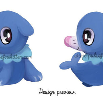 PREORDER OFFER Popplio Charm Strap Pokemon Sun and Moon Handmade