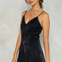 Can't Touch This Satin Romper