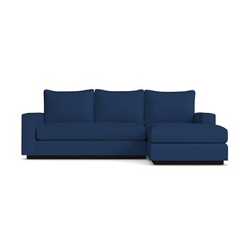 Harper Reversible Chaise Sleeper Sofa :: Leg Finish: Espresso / Sleeper Option: Deluxe Innerspring Mattress