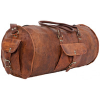 RETRO LEATHER DUFFLE BAG 22""