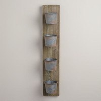 Rectangular 4-Tin Wood Planter