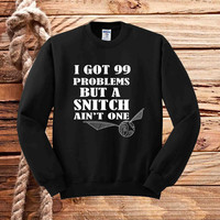 Harry Potter Inspired Quidditch Snitch sweater unisex adults