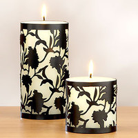 Blanc Noir Caged Candle, Set of 2   Candles & Home Fragrance  Home Decor   World Market