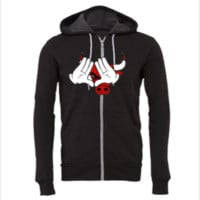mickey mouse hand  chicago bulls - Unisex Full-Zip Hooded Sweatshirt