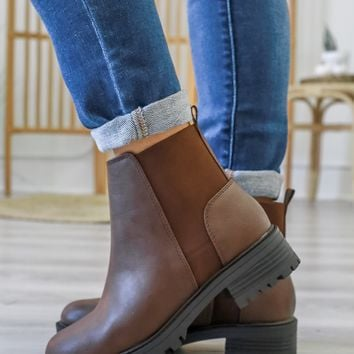 Wynne Booties - Brown