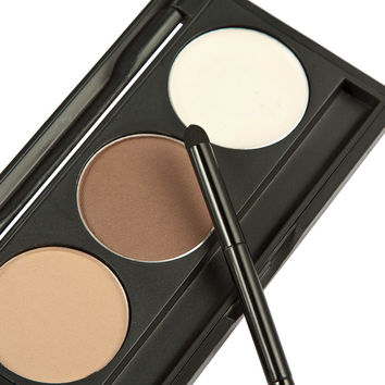 2016 Makeup 3 Colors Eyebrow Powder Concealer Palette With Mirror Eyebrow Brush Brand New Base Foundation Concealers Face Powder