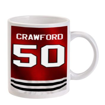 Gift Mugs | Corey Crawford Chicago Blackhawks Ceramic Coffee Mugs
