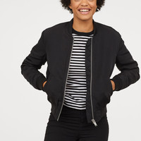 Padded Bomber Jacket - Black - Ladies | H&M US