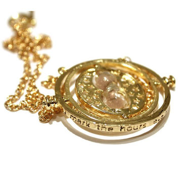 Harry Potter Time Turner necklace Hermione Golden
