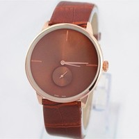 model Wo Watch famous brand  Fashion Ladies Dress Watches Leather Wo/Man watch high quality Hours Christmas Gift