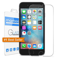 iPhone 6 Plus Screen Protector, Maxboost [Tempered Glass] 0.2mm Ballistic Glass iPhone 6 Plus Glass Screen Protector Work with iPhone 6 Plus and Protective Case [Lifetime Warranty]