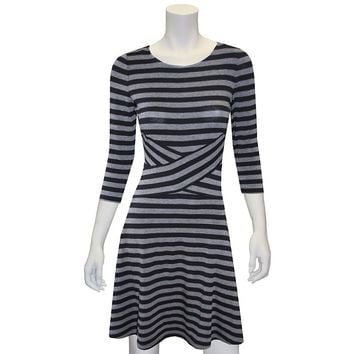 Indication by ECI Lurex Striped Crossover Dress