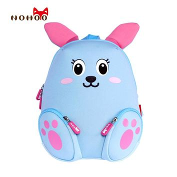NOHOO Little Kids Children's School Bags Backpacks 3D Cartoon Rabbit Small Backpack Toddler Baby Girls School for 2-4 Years Old