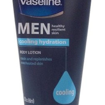 Vaseline Men Healthy Resilient Skin Cooling Hydration Travel Size Body Lotion 2 Oz Each Bulk (2 Pack)