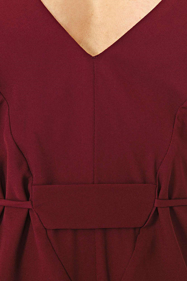 a30204edfcf1 Burgundy V-neck Spaghetti Strap Romper from Lionheart Couture