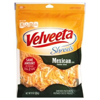 Velveeta Shreds Mexican Cheddar Blend, 8 oz