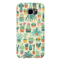 Cactus Flower Pattern Samsung Galaxy S6 Case