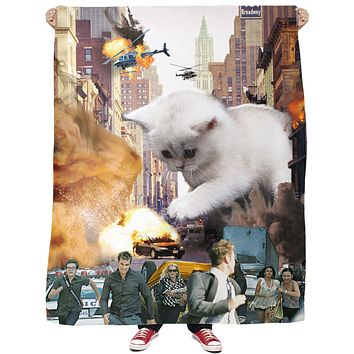 Rampage Cat Fleece Blanket