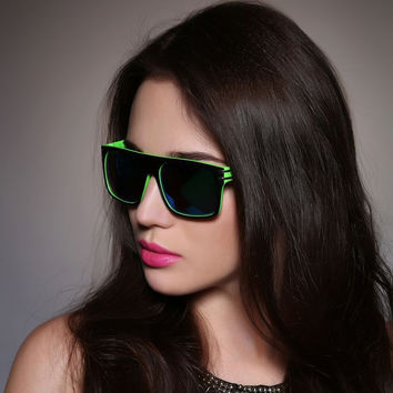 Ladies Double Color Rivet Cool Sunglasses [11405228943]