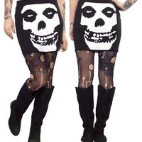 Misfits Brutality Mini Tube Skirt by Sourpuss - SALE sz L only