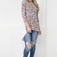 Dusty Floral Top