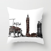 Taipei Throw Pillow by cindys