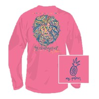 Be Courageous Long Sleeve Tee Shirt in Safety Pink by MG Palmer