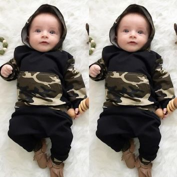 2017 Baby clothing Set boy cotton long sleeve hooded sweatshirt+pants Infant bebe boys clothes hoody set toddler kids cloth set