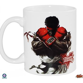 11oz OFFICIAL Street Fighter White Ceramic Coffee Mug with Decal printed on White Ceramic Mug Novelty GIFT