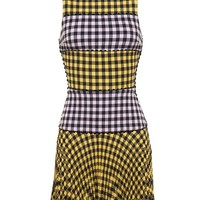Gingham Panel Dress - ADAM SELMAN