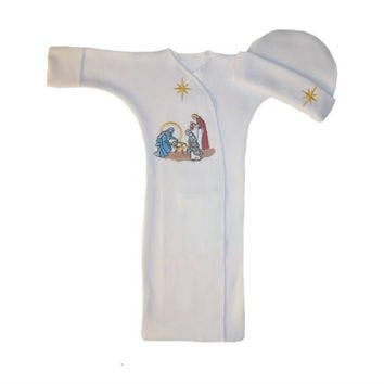 Unisex Baby Christmas Nativity Bunting Gown Set
