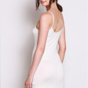Basic Slip Dress - Natural