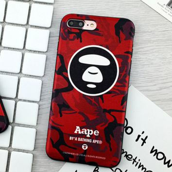 Red Aape Fashion Iphone 7 7plus & 6 6s Plus Cover Case + Gift Box