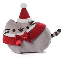 "Pusheen 12"" Soft Large Plushie: Merry Christmas Santa Hat"