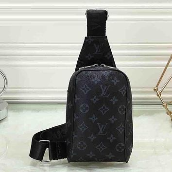 Louis Vuitton LV Woman Men Fashion Leather Crossbody Single Shoulder Bag Satchel