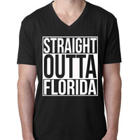 Straight Outta Florida V Neck T Shirt