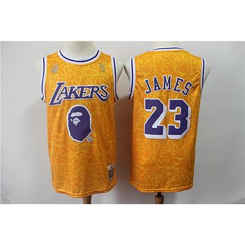A Bathing Ape x Lakers 23 James Swingman Jersey