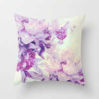 pastel bouquet Throw Pillow by Clemm