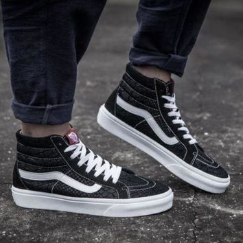 DCK7YE Vans Alligator stripes suede high pair shoes