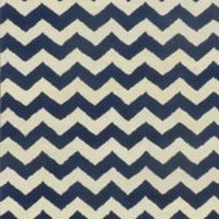 ADC Rugs Chevron Zig Zag Handamde Wool Area Rug, 8-Feet by 10-Feet, Blue and Ivory