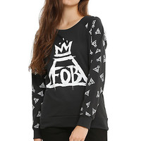 Fall Out Boy Crown Logo Girls Pullover Top