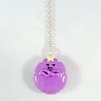 LSP Lumpy Space Princess (Adventure Time) Chibi Charm Necklace. Oh My Glob :D