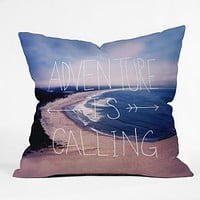 Leah Flores Adventure Is Calling Throw Pillow