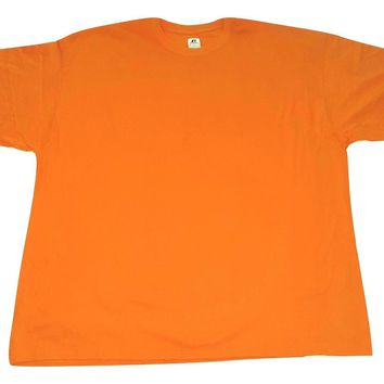 Russell Athletic Men's T-shirt Big and Tall 3X Orange Tee Short Sleeve